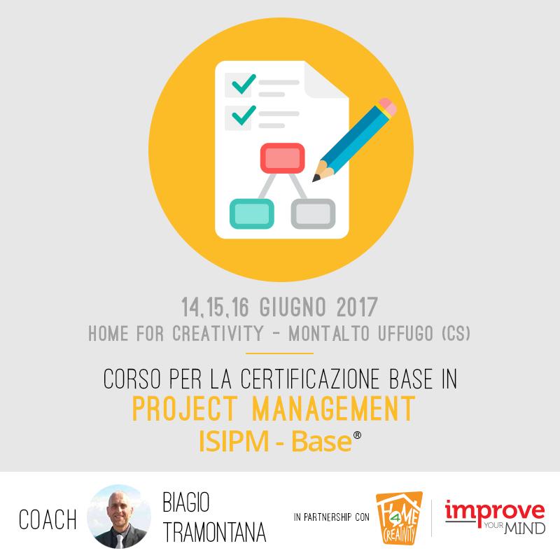 Corso per la certificazione base in Project Management (ISIPM-Base®) – Cosenza