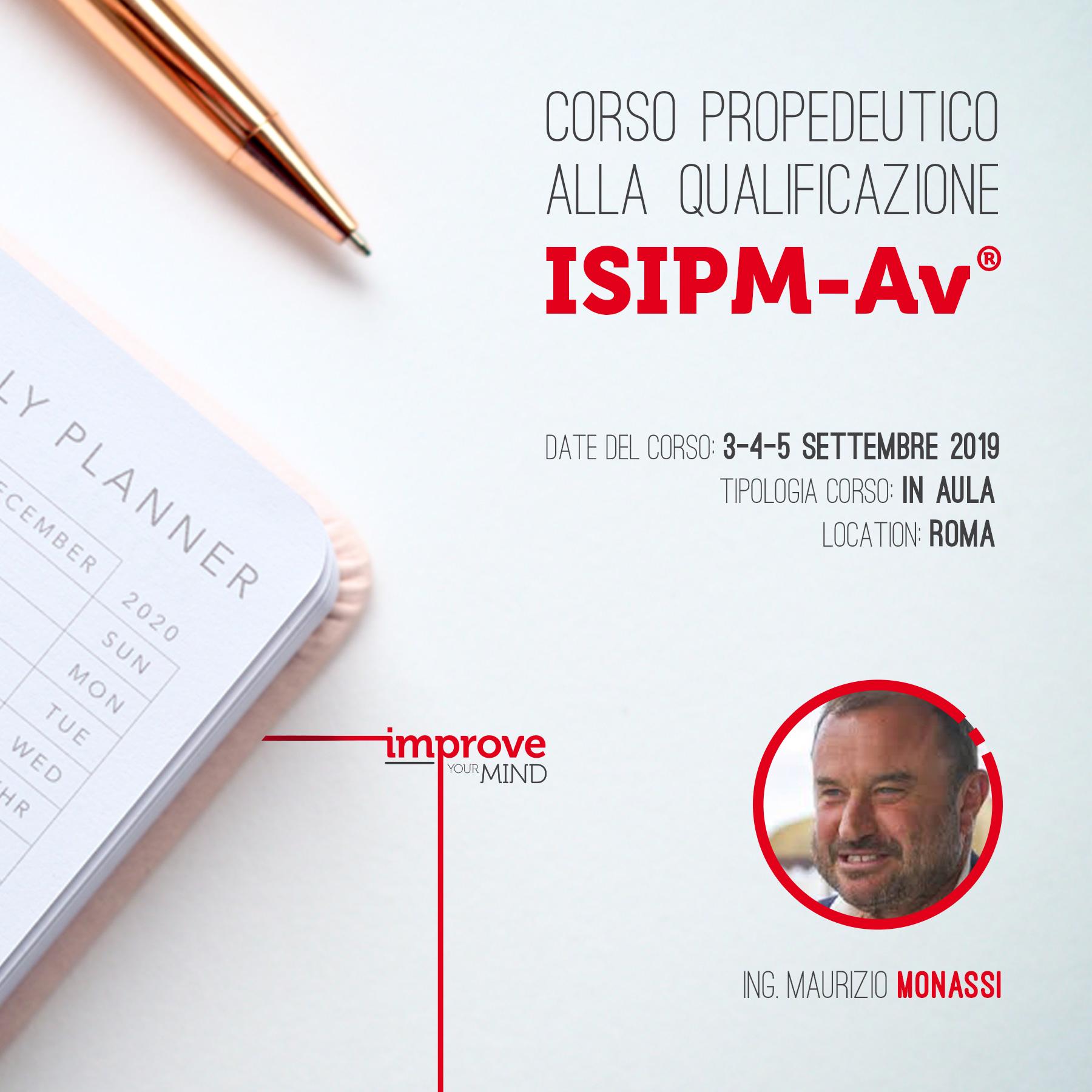 Corso propedeutico alla qualificazione ISIPM-Av® 2019